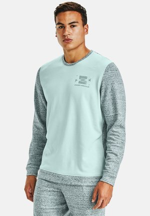 UA SPORTSTYLE TERRY KO CREW - Print T-shirt - enamel blue