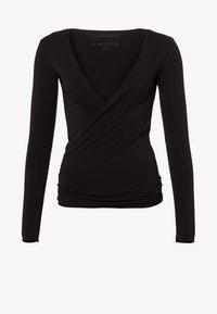 Curare Yogawear - WRAP - Topper langermet - black - 6