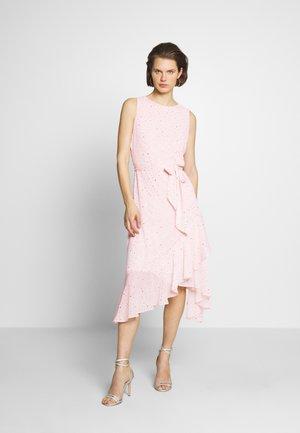 GLITTER TIERED DRESS - Vestido informal - blush