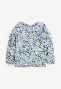 Next - BRUSHED BRODERIE COLLAR  - Long sleeved top - blue - 0
