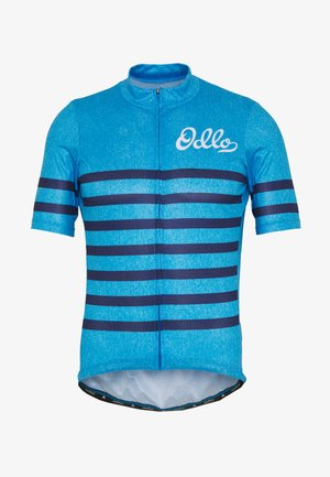 STAND UP COLLAR FULL ZIP ELEMENT - Print T-shirt - blue aster melange/estate blue