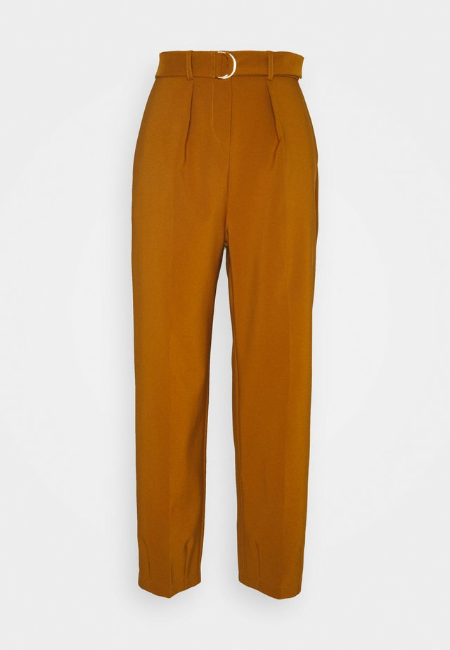 D-RING WAIST TROUSERS - Trousers - rust