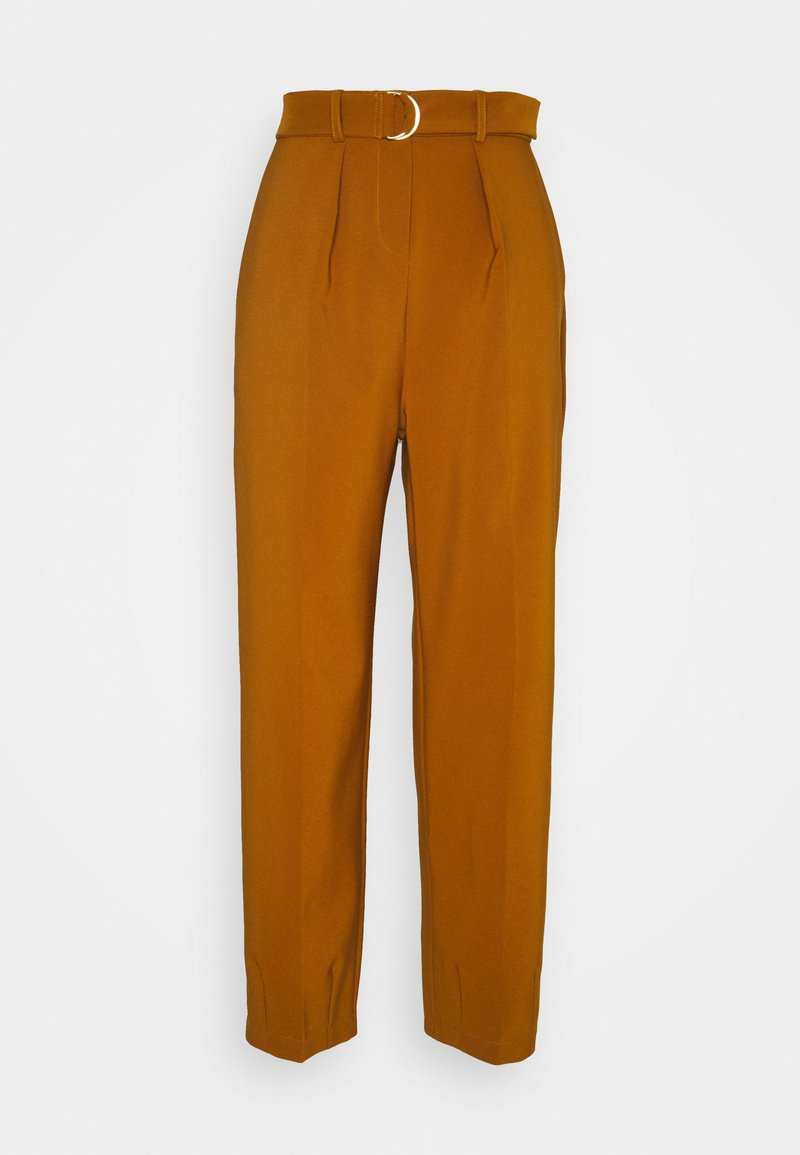 Closet - D-RING WAIST TROUSERS - Trousers - rust