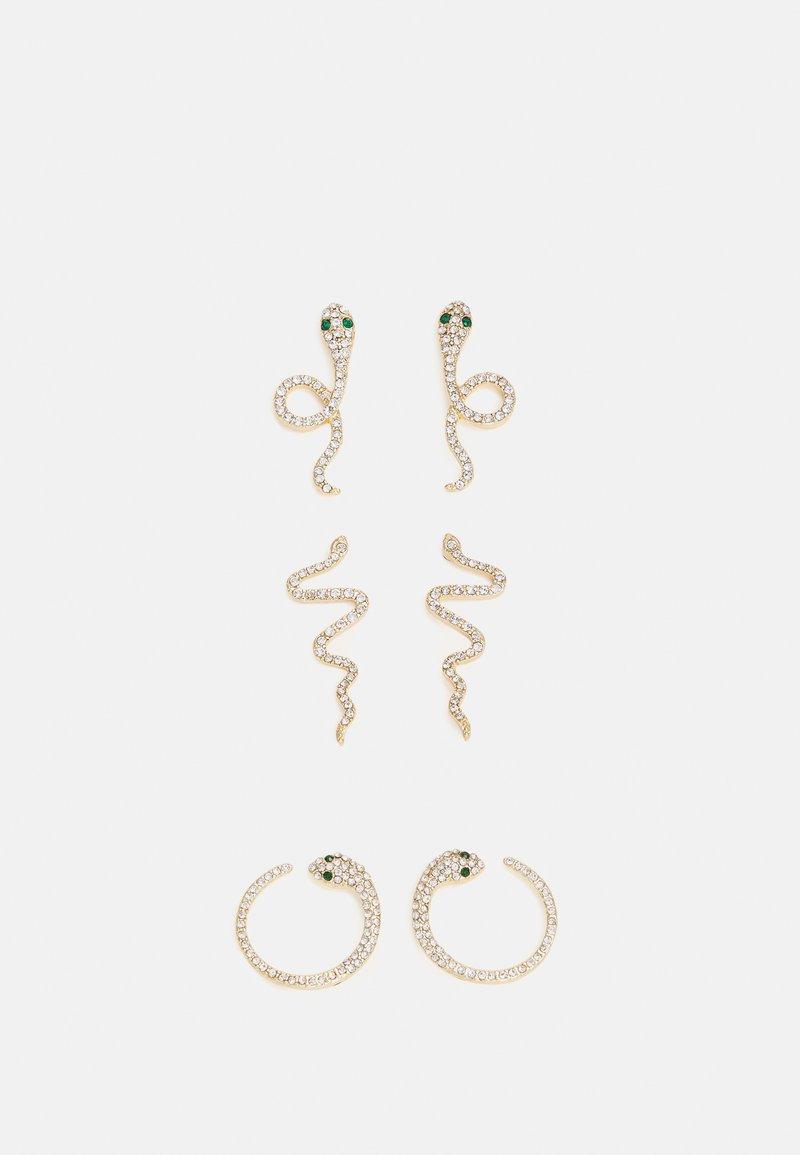 Pieces - PCTULLIA EARRINGS 3 PACK - Boucles d'oreilles - gold-coloured