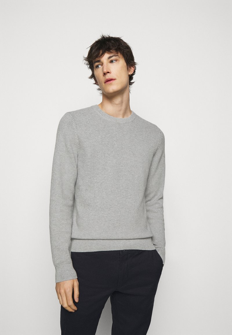 J.LINDEBERG - ANDY STRUCTURE C-NECK - Jumper - stone grey melange