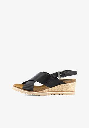 CAMBRILS - Sandalen met sleehak - black
