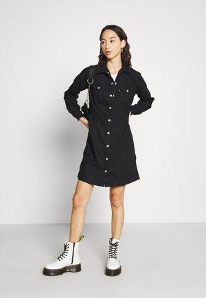ELLIE DRESS - Denim dress - black