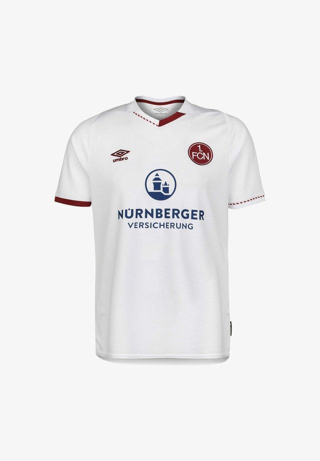 FC NÜRNBERG - T-shirt imprimé - white / red