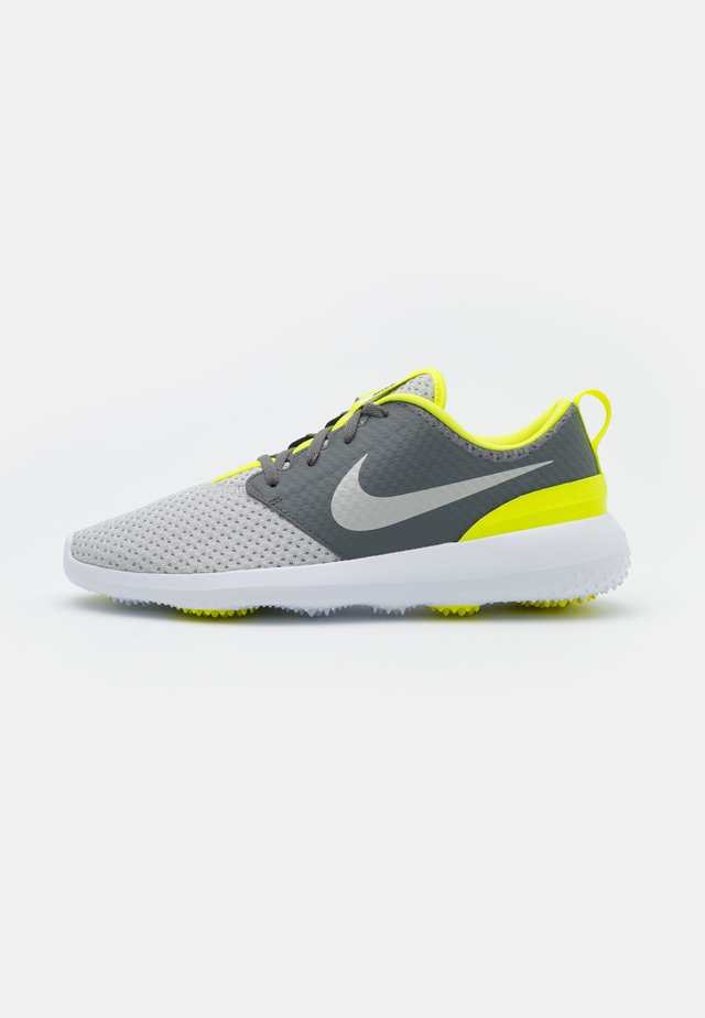 ROSHE G - Golf shoes - smoke grey/grey fog/white/lemon