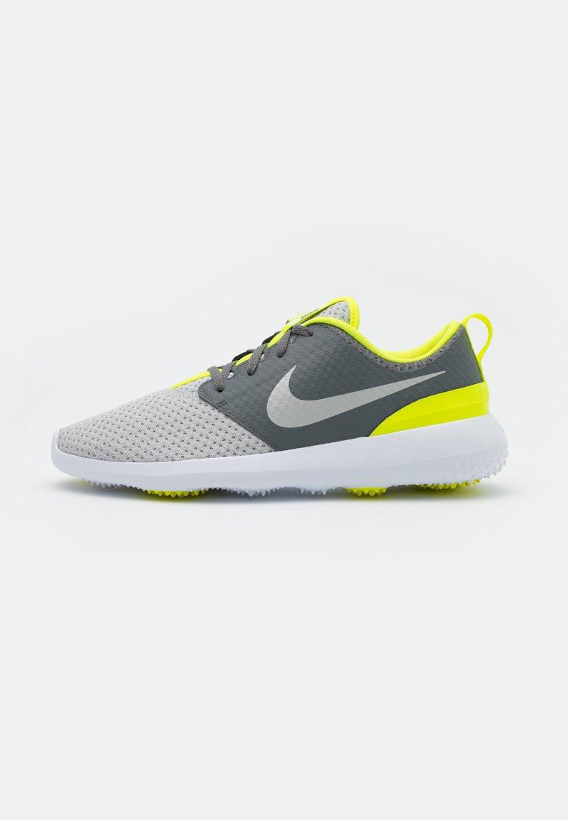 Nike Golf - ROSHE G - Golfové boty - smoke grey/grey fog/white/lemon