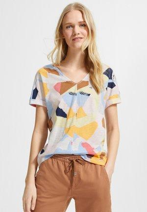 MIT ALLOVER-PRINT - Print T-shirt - blush abstract geo