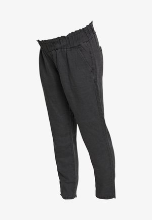 PANTS LINNEN TOUCH - Spodnie materiałowe - charcoal