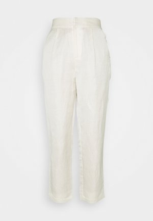 TAILORED JOGGER IN BLEND QUALITY - Trousers - ecru