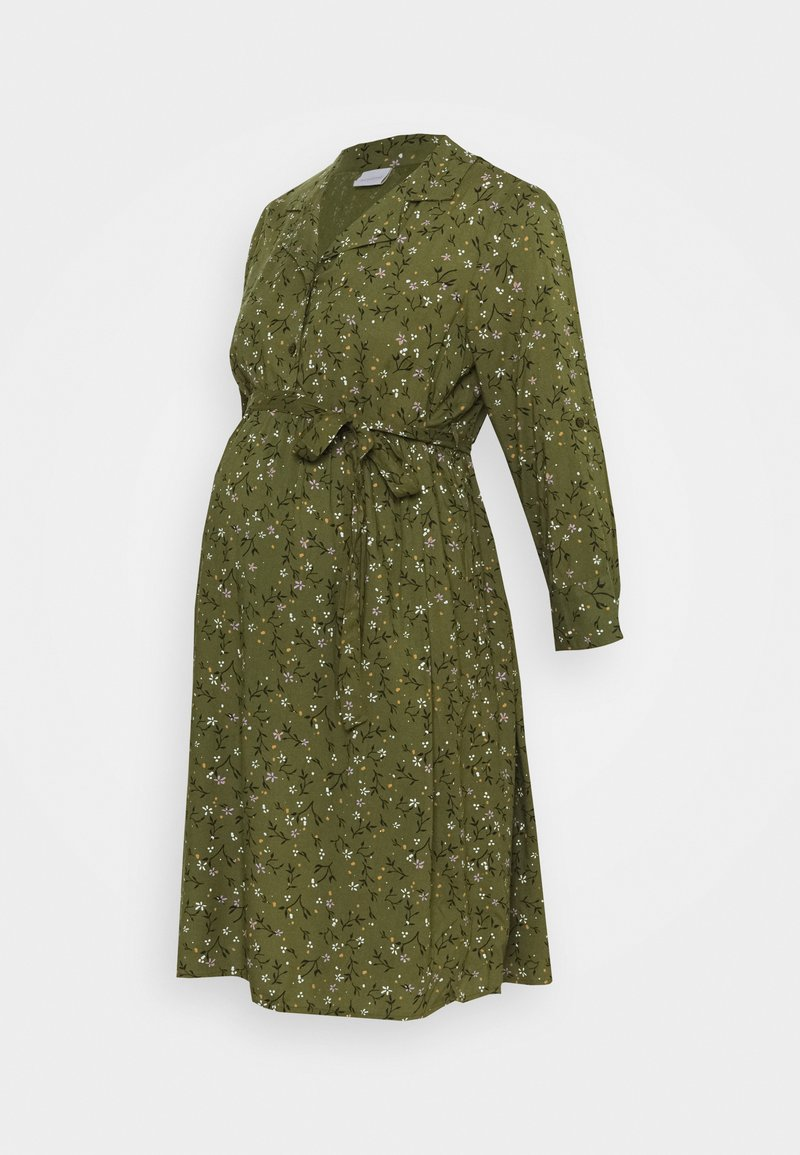 MAMALICIOUS - MLLEVETTA LIA DRESS - Korte jurk - olivine