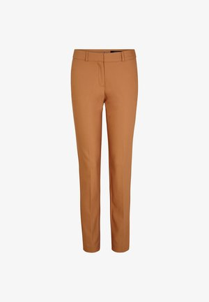 Trousers - chocolate camel