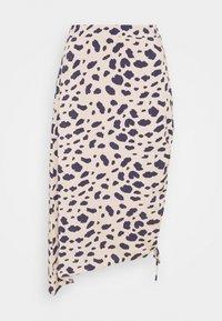 NA-KD - DRAPED HIGH SLIT MIDI SKIRT - Pencil skirt - multi-coloured - 0