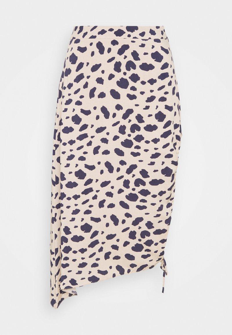 NA-KD - DRAPED HIGH SLIT MIDI SKIRT - Pencil skirt - multi-coloured