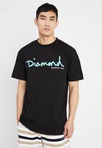 Diamond Supply Co. - SCRIPT TEE - T-Shirt print - black - 0