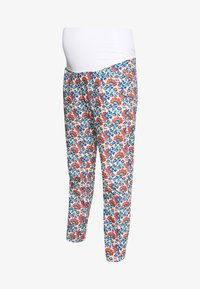 CARROT PANTS FLOWER PRINTS - Kalhoty - blue red