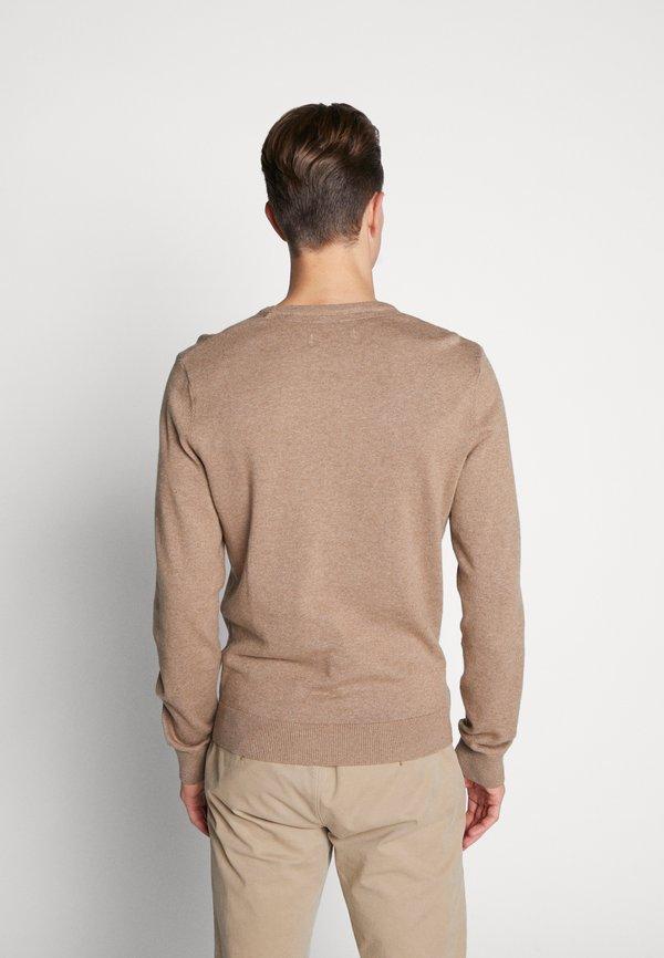Pier One Sweter - mottled beige/beżowy melanż Odzież Męska JXMR