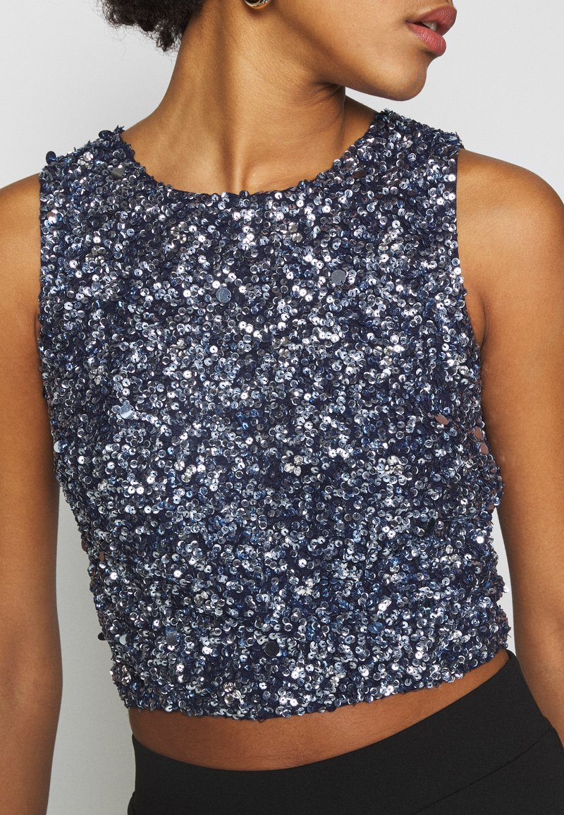 Lace & Beads - PICASSO  - Blouse - navy