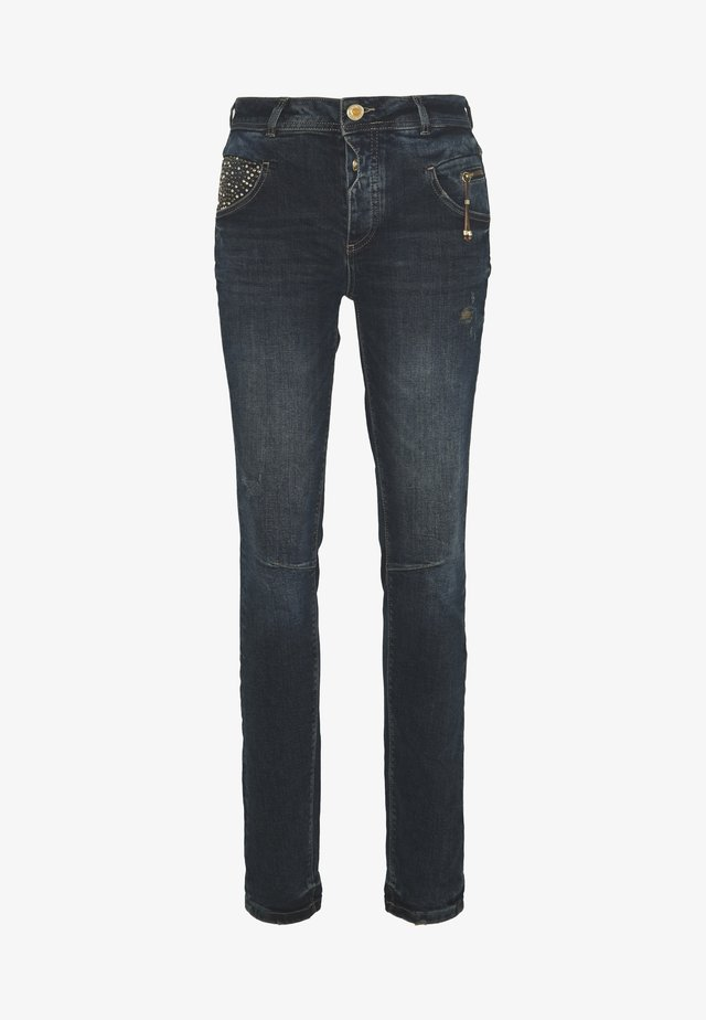 NELLY HERITAGE JEANS - Relaxed fit jeans - blue