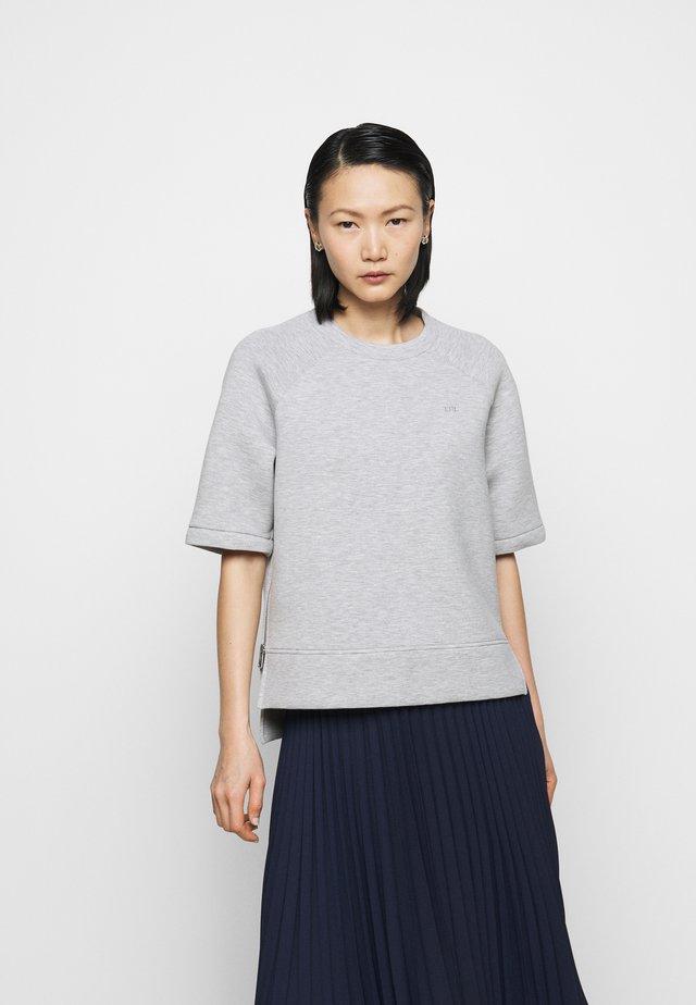 MODERN KNIT  - Basic T-shirt - pearl grey heather
