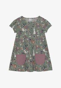 Lindex - MINI LONGSWEET - Žerzejové šaty - light dusty green - 3