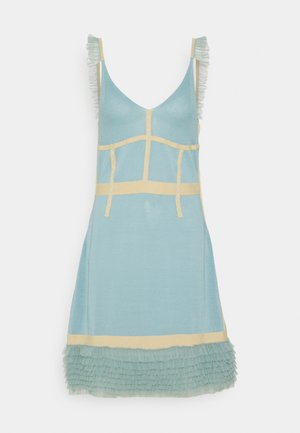DRESS - Pletené šaty - light blue