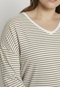 MY TRUE ME TOM TAILOR - Long sleeved top - khaki ecru horizontal stripe - 3