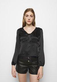 maje - LIFFANY - Long sleeved top - noir - 0