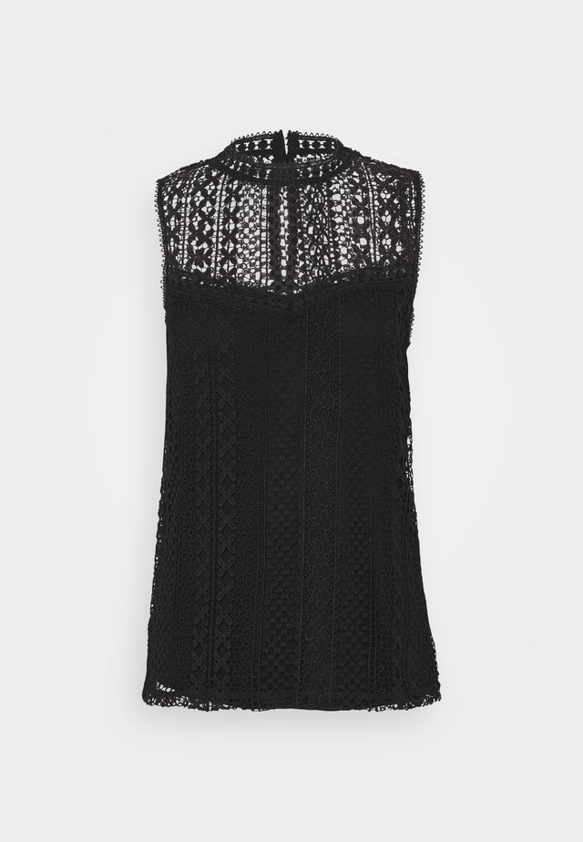 TALL SLEEVELESS LACE  - Blouse - black