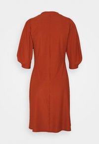Closet - HIGH NECK A LINE DRESS - Day dress - rust - 1