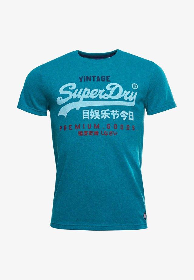 T-shirt print - ocean green marl