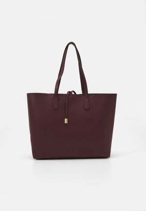 TIE DETAIL - Tote bag - oxblood