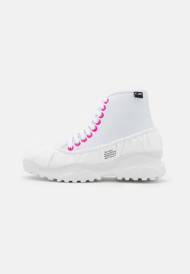 F_WD - Šněrovací kotníkové boty - white