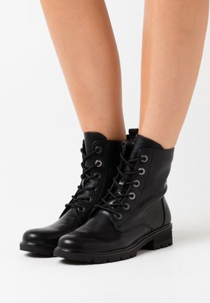 WOMS  - Bottines à lacets - black