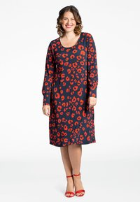 Yoek - Day dress - blue/red - 1