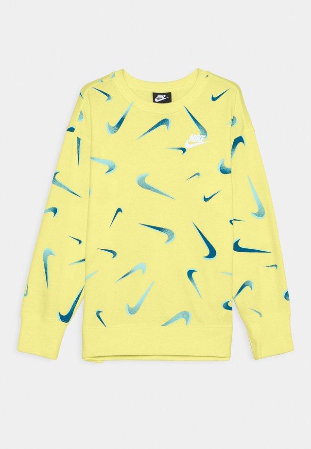 CREW - Sweatshirt - light zitron/white