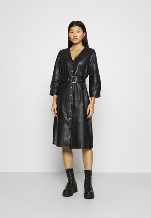 SLFJOHANNE 7/8 DRESS - Day dress - black