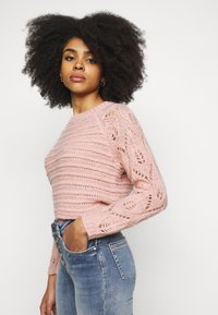 ONLY Petite - ONLVANESSA L/S PULLOVER CC PETIT KN - Maglione - misty rose/melange - 4