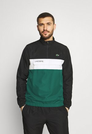 TRACKSUIT - Träningsset - black/bottle green