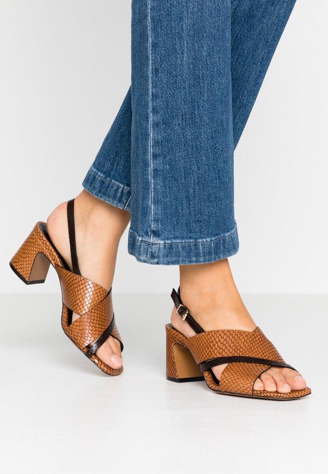 Sandals - papua/testa di moro