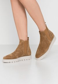 Kennel + Schmenger - LEA  - Platform ankle boots - wood - 0
