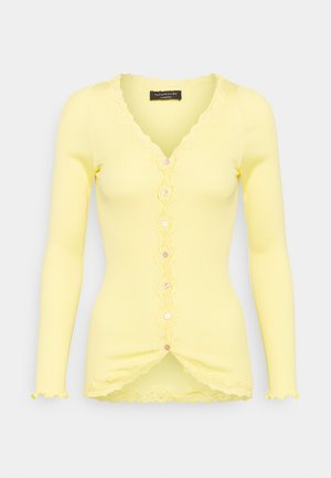 CARDIGAN REGULAR VINTAGE - Mikina na zip - vanilla yellow