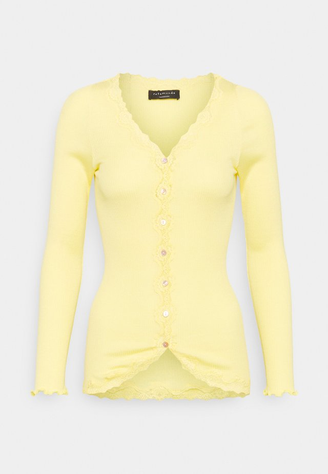 CARDIGAN REGULAR VINTAGE - Felpa aperta - vanilla yellow