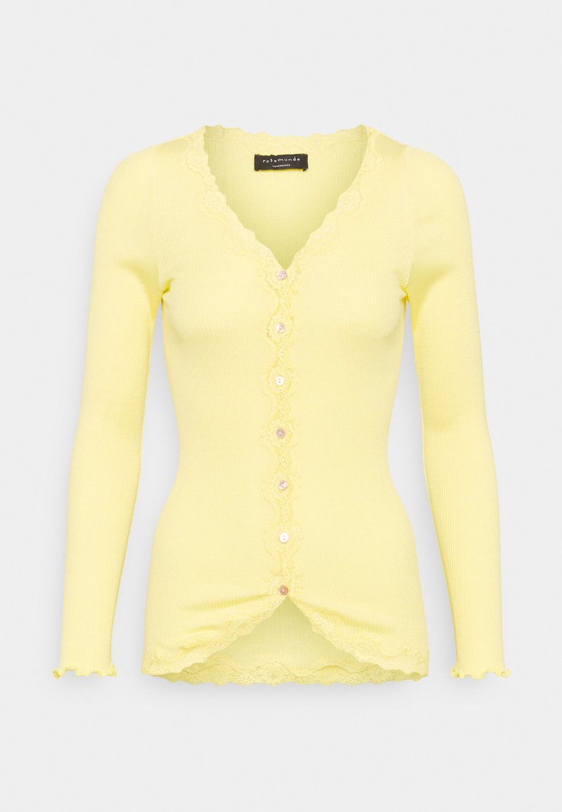 Rosemunde - CARDIGAN REGULAR VINTAGE - Zip-up hoodie - vanilla yellow