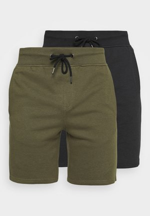 2 PACK - Short - black/olive