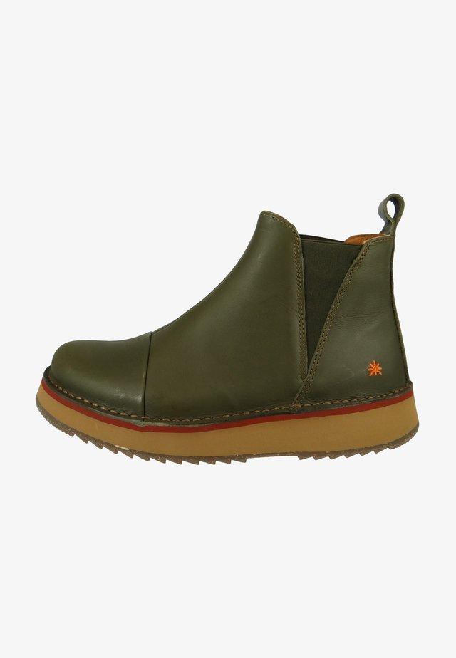 Platform ankle boots - kaki