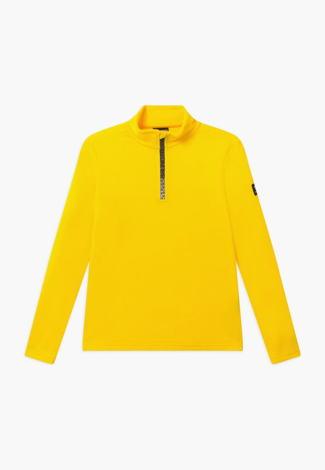 TENNO BOYS - Fleece jumper - cyber yellow